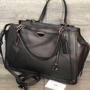 NWT $595 Coach Black Mixed Leather Dream